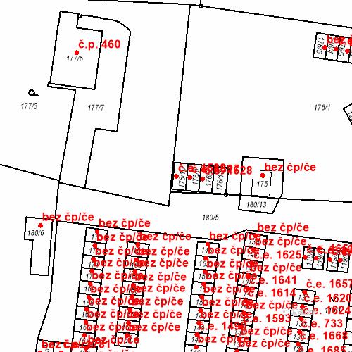 Katastrální mapa Stavební objekt Děčín XXXII-Boletice nad Labem 1588, Děčín