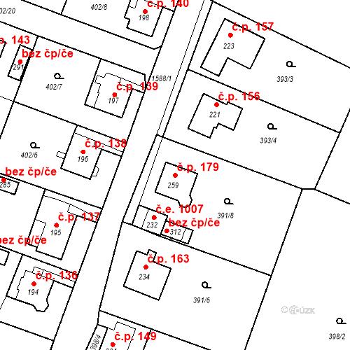 Katastrální mapa Stavební objekt Děčín XXIV-Krásný Studenec 179, Děčín