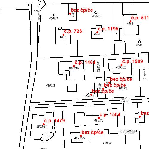 Katastrální mapa Stavební objekt Černošice 1464, Černošice