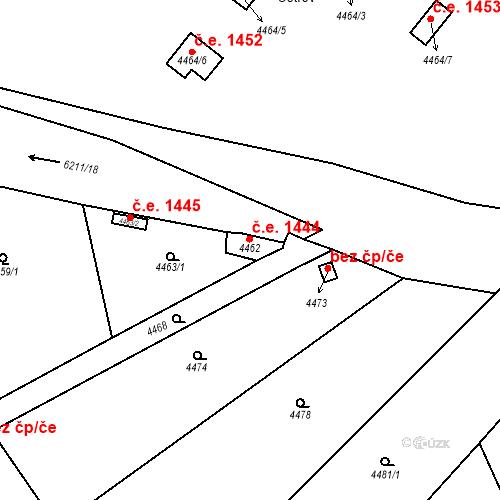 Katastrální mapa Stavební objekt Černošice 1444, Černošice