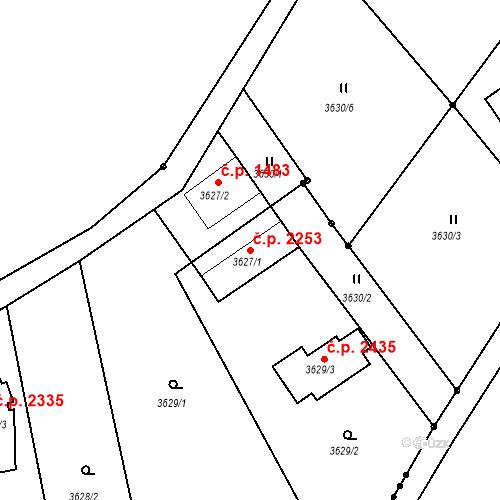 Katastrální mapa Stavební objekt Dobrá Voda u Českých Budějovic 2253, Dobrá Voda u Českých Budějovic