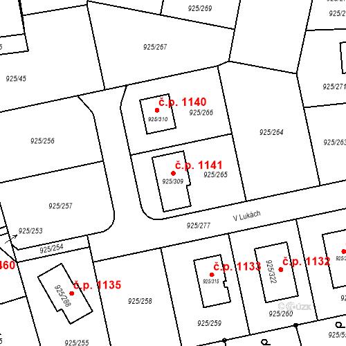 Katastrální mapa Stavební objekt Srubec 1141, Srubec