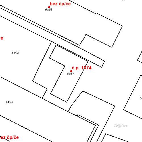 Katastrální mapa Stavební objekt Řeporyje 1074, Praha