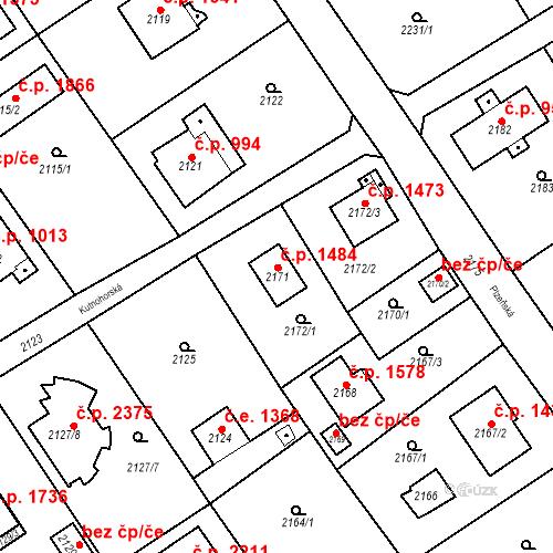 Katastrální mapa Stavební objekt Černošice 1484, Černošice