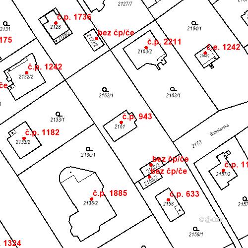 Katastrální mapa Stavební objekt Černošice 943, Černošice