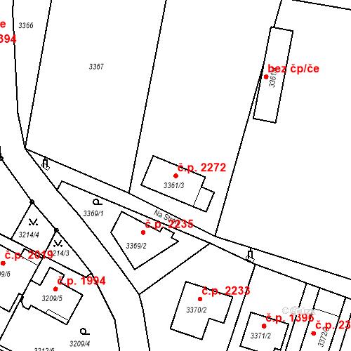Katastrální mapa Stavební objekt Dobrá Voda u Českých Budějovic 2272, Dobrá Voda u Českých Budějovic