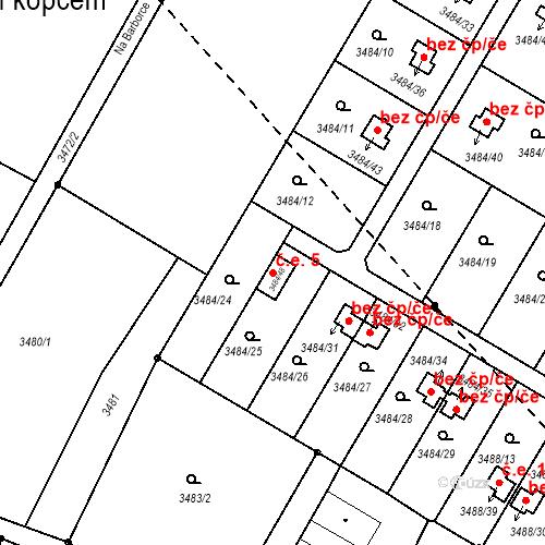 Katastrální mapa Stavební objekt Dobrá Voda u Českých Budějovic 5, Dobrá Voda u Českých Budějovic
