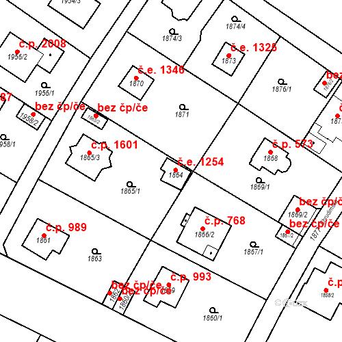 Katastrální mapa Stavební objekt Černošice 1254, Černošice