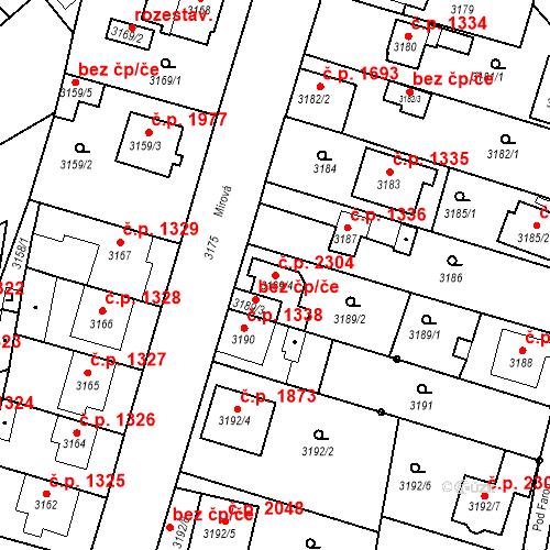 Katastrální mapa Stavební objekt Dobrá Voda u Českých Budějovic 2304, Dobrá Voda u Českých Budějovic