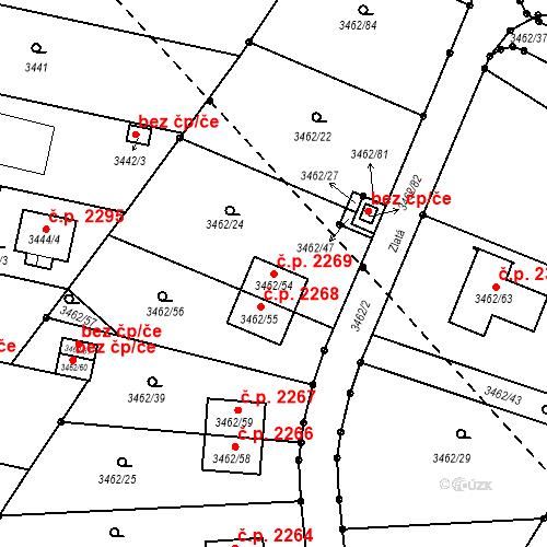 Katastrální mapa Stavební objekt Dobrá Voda u Českých Budějovic 2269, Dobrá Voda u Českých Budějovic