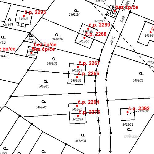 Katastrální mapa Stavební objekt Dobrá Voda u Českých Budějovic 2266, Dobrá Voda u Českých Budějovic