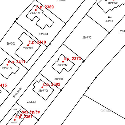 Katastrální mapa Stavební objekt Dobrá Voda u Českých Budějovic 2373, Dobrá Voda u Českých Budějovic