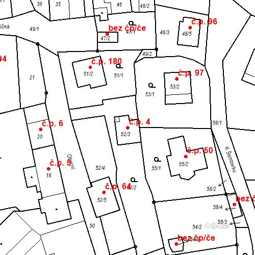 Katastrální mapa Stavební objekt Staré Hodějovice 4, Staré Hodějovice