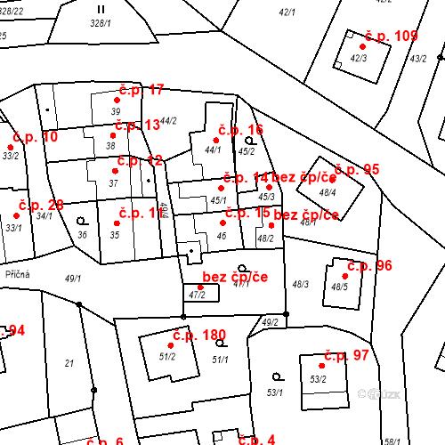 Katastrální mapa Stavební objekt Staré Hodějovice 15, Staré Hodějovice