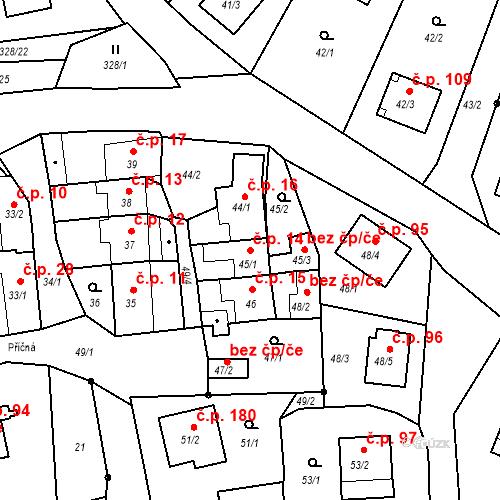 Katastrální mapa Stavební objekt Staré Hodějovice 14, Staré Hodějovice