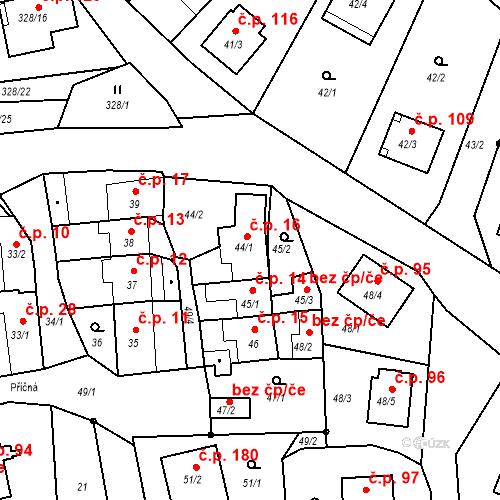 Katastrální mapa Stavební objekt Staré Hodějovice 16, Staré Hodějovice