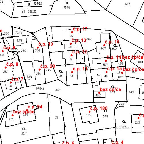 Katastrální mapa Stavební objekt Staré Hodějovice 11, Staré Hodějovice
