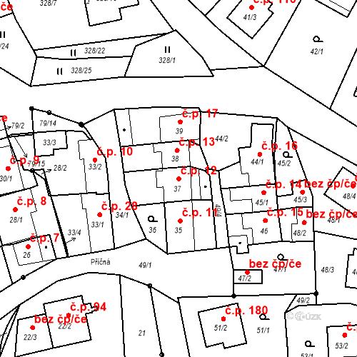 Katastrální mapa Stavební objekt Staré Hodějovice 12, Staré Hodějovice