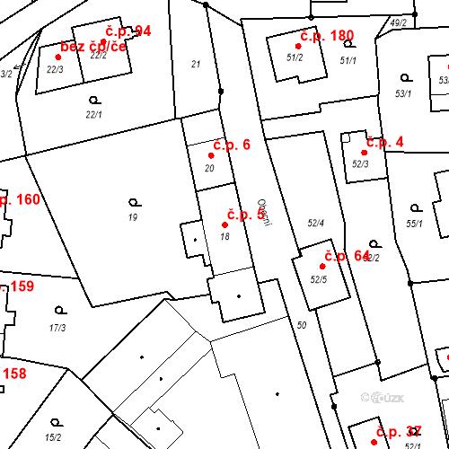 Katastrální mapa Stavební objekt Staré Hodějovice 5, Staré Hodějovice