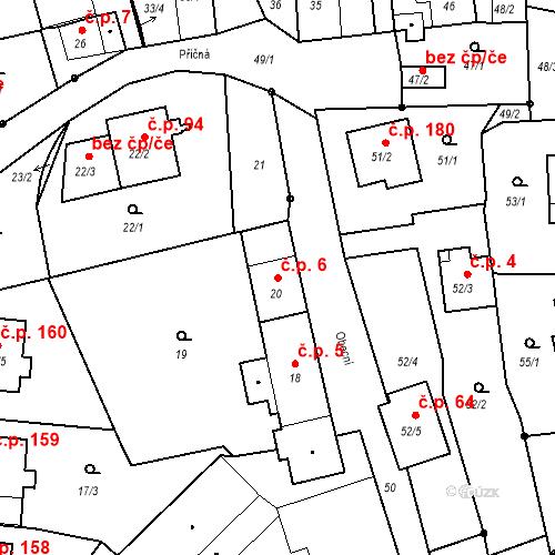 Katastrální mapa Stavební objekt Staré Hodějovice 6, Staré Hodějovice