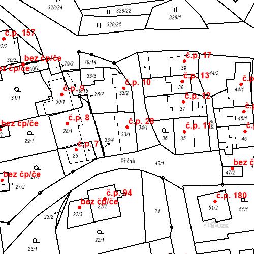 Katastrální mapa Stavební objekt Staré Hodějovice 28, Staré Hodějovice