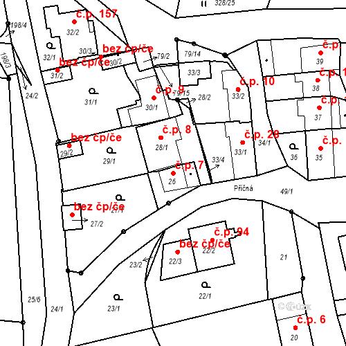 Katastrální mapa Stavební objekt Staré Hodějovice 7, Staré Hodějovice