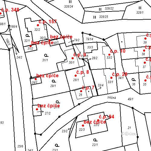 Katastrální mapa Stavební objekt Staré Hodějovice 8, Staré Hodějovice