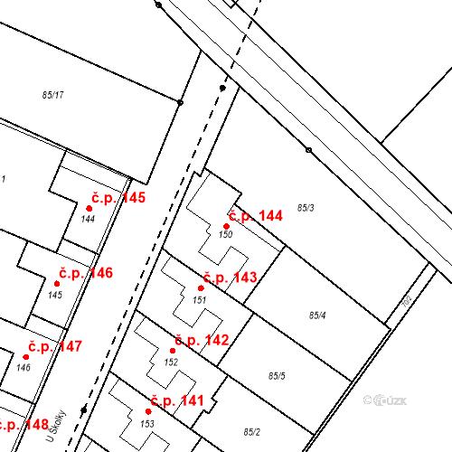 Katastrální mapa Stavební objekt Borek 144, Borek