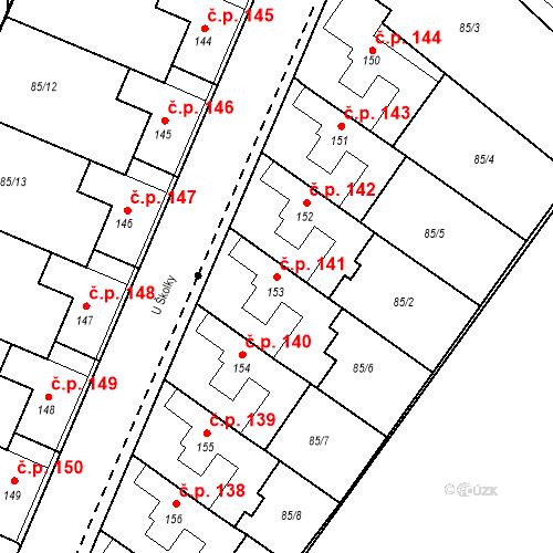 Katastrální mapa Stavební objekt Borek 141, Borek