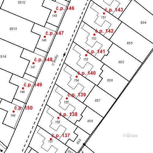 Katastrální mapa Stavební objekt Borek 140, Borek