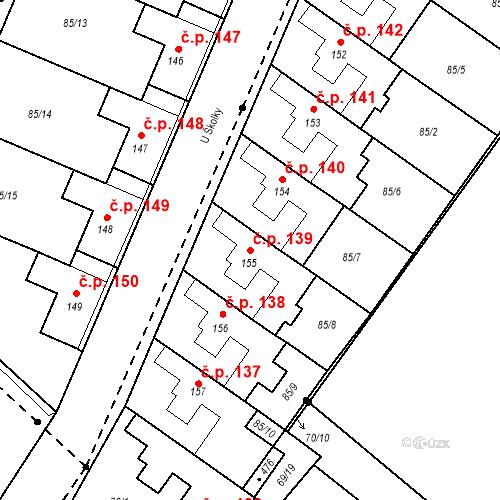 Katastrální mapa Stavební objekt Borek 139, Borek