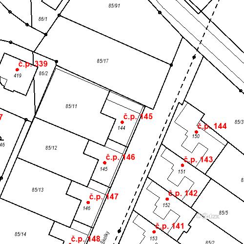 Katastrální mapa Stavební objekt Borek 145, Borek