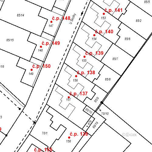 Katastrální mapa Stavební objekt Borek 138, Borek