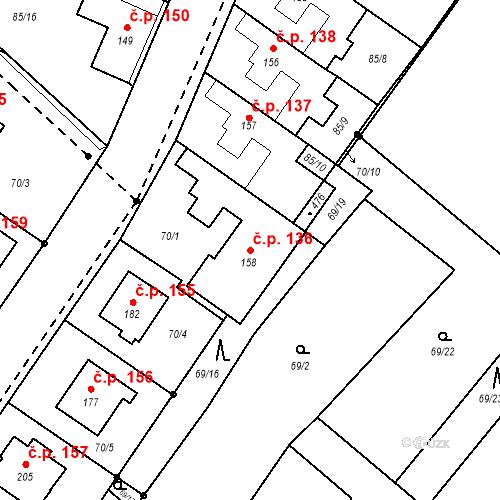 Katastrální mapa Stavební objekt Borek 136, Borek