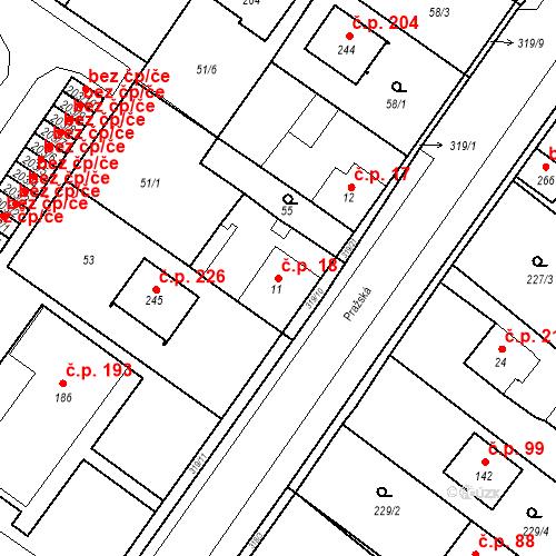 Katastrální mapa Stavební objekt Borek 18, Borek