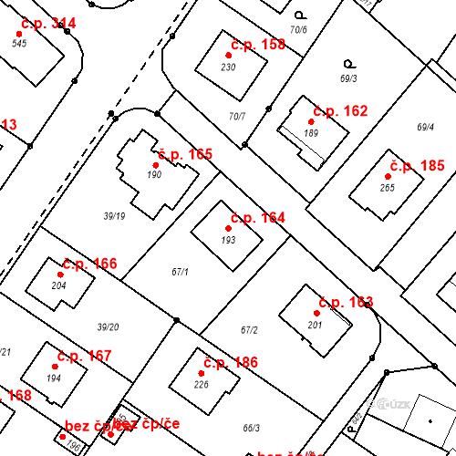 Katastrální mapa Stavební objekt Borek 164, Borek