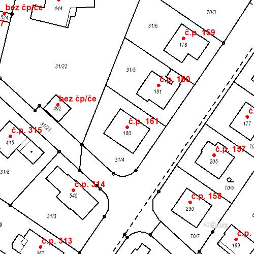 Katastrální mapa Stavební objekt Borek 161, Borek