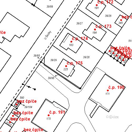 Katastrální mapa Stavební objekt Borek 175, Borek