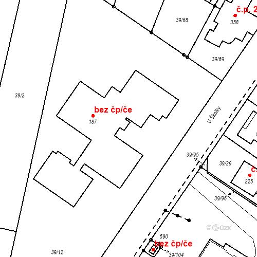 Katastrální mapa Stavební objekt Borek 195, Borek