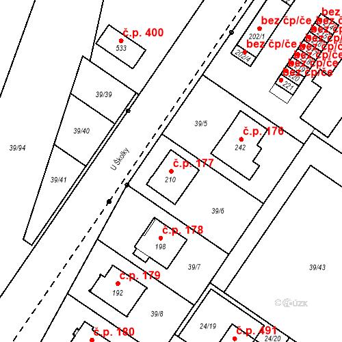 Katastrální mapa Stavební objekt Borek 177, Borek