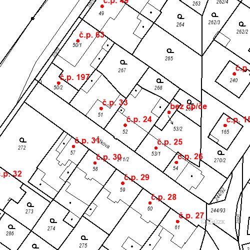 Katastrální mapa Stavební objekt Borek 24, Borek