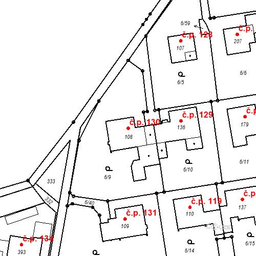 Katastrální mapa Stavební objekt Borek 130, Borek