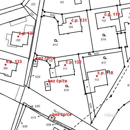 Katastrální mapa Stavební objekt Borek 132, Borek