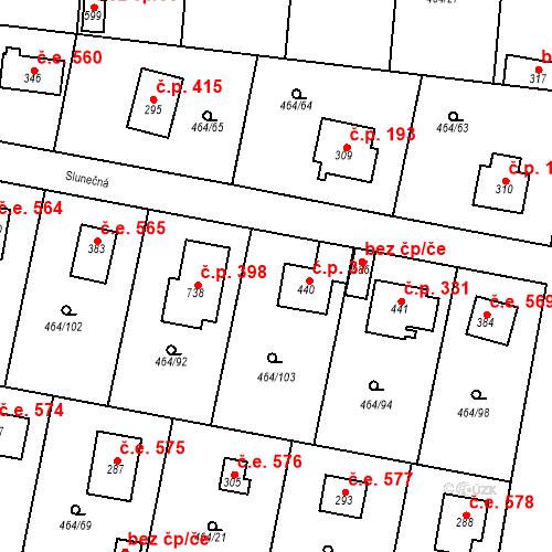 Katastrální mapa Stavební objekt Třebotov 37, Třebotov