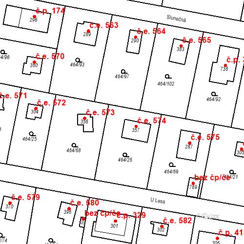 Katastrální mapa Stavební objekt Třebotov 574, Třebotov