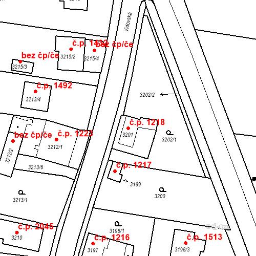 Katastrální mapa Stavební objekt České Budějovice 6 1218, České Budějovice