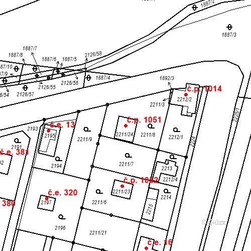 Katastrální mapa Stavební objekt Dobřichovice 1051, Dobřichovice