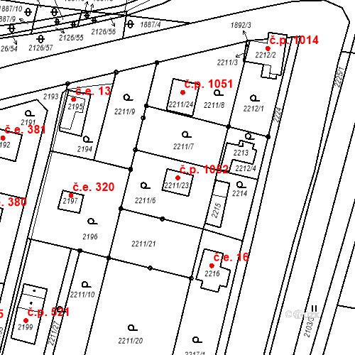 Katastrální mapa Stavební objekt Dobřichovice 1052, Dobřichovice