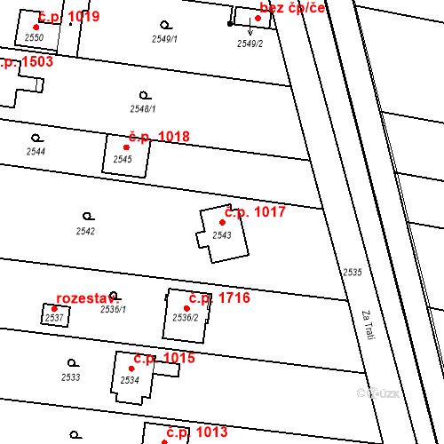 Katastrální mapa Stavební objekt České Budějovice 6 1017, České Budějovice