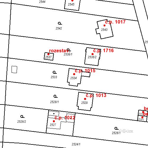Katastrální mapa Stavební objekt České Budějovice 6 1015, České Budějovice